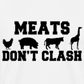 Design ~ Meats Don't Clash White T-Shirt (Men's)