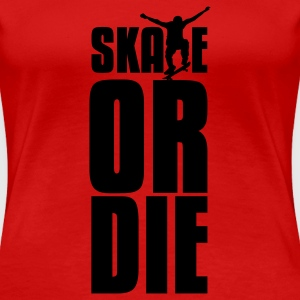 Red skate or die Plus Size - Women's Premium T-Shirt