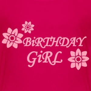 Hot pink Birthday girl Kids' Shirts - Kids' Premium T-Shirt