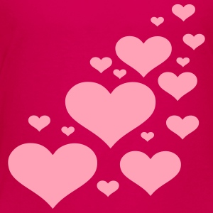 Hot pink Hearts Kids' Shirts - Kids' Premium T-Shirt