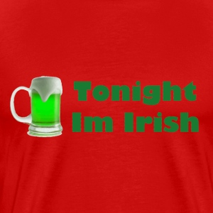 Red Irish tonight  T-Shirts - Men's Premium T-Shirt