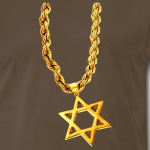Bling Bling Gold STAR OF DAVID - Men's Premium T-Shirt