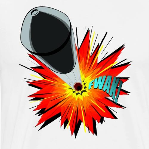 Gunshot, 3D comicbook, bullet hole, chest t-shirt