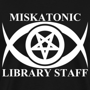 MISKATONIC LIBRARY STAFF - Men's Premium T-Shirt