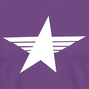 Purple cool sharp soviet star T-Shirts - Men's Premium T-Shirt