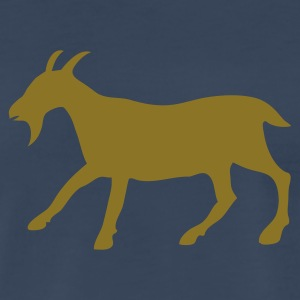 Navy the golden goat T-Shirts - Men's Premium T-Shirt