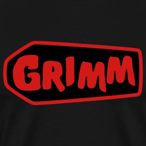Black grimm with red type and coffin T-Shirts - Men's Premium T-Shirt