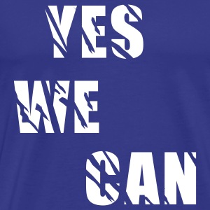 Royal blue yes we can T-Shirts - Men's Premium T-Shirt