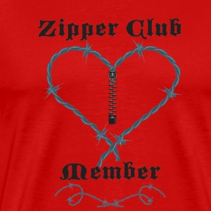 Red Zipper Club Member T-Shirts - Men's Premium T-Shirt