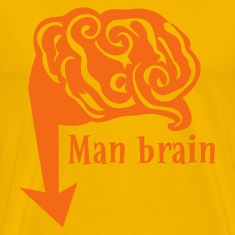 Gold man brain down there T-Shirts