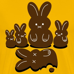 Gold easter massacre killing chocolate bunnies T-Shirts - Men's Premium T-Shirt