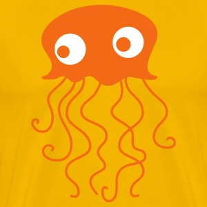 Gold jellyfish with googly eyes for baby T-Shirts - Men's Premium T-Shirt