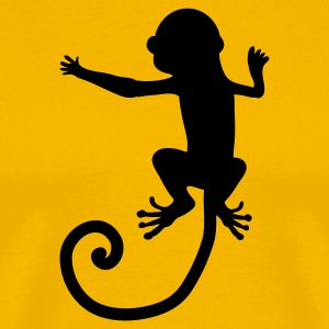 Gold GET THAT MONKEY off your back! T-Shirts - Men's Premium T-Shirt