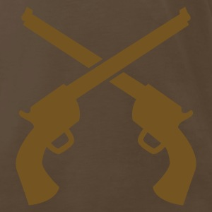 gunslinger guns crossed plain T-Shirts - Men's Premium T-Shirt