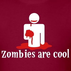 Burgundy zombies are cool T-Shirts - Men's T-Shirt