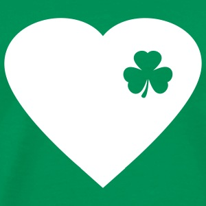 Kelly green irish heart T-Shirts - Men's Premium T-Shirt