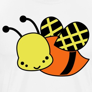 White cute bee funky little design T-Shirts - Men's Premium T-Shirt