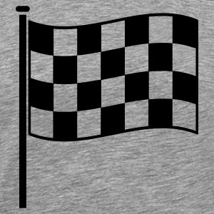 checkered flag RACING motor sport T-Shirts - Men's Premium T-Shirt