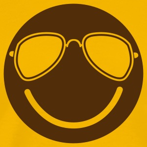 FUNKY cool smiley with aviator glasses T-Shirts - Men's Premium T-Shirt