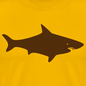 Gold A GREAT WHITE SHARK T-Shirts - Men's Premium T-Shirt