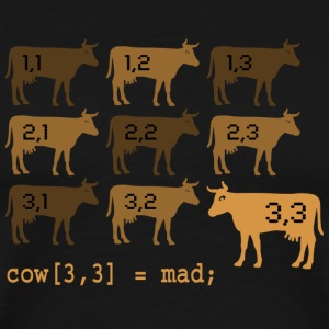 Mad Cow Array 1 - Men's Premium T-Shirt