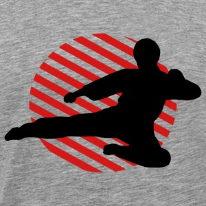 Heather grey Fight Jump Circle 2C T-Shirts - Men's Premium T-Shirt