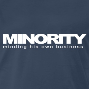 Navy Minority, minding his own business T-Shirts - Men's Premium T-Shirt