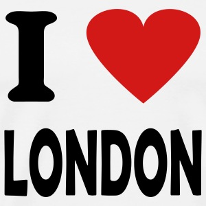 White i love london T-Shirts - Men's Premium T-Shirt