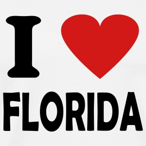White i love florida T-Shirts - Men's Premium T-Shirt