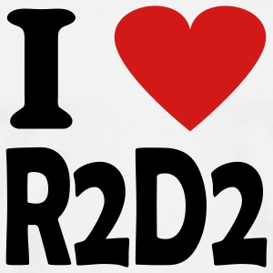 White i love r2d2 T-Shirts - Men's Premium T-Shirt