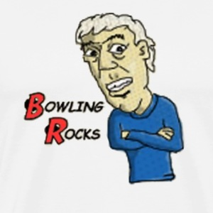 bowling rocks ad - Men's Premium T-Shirt