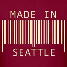 Burgundy Made in Seattle T-Shirts