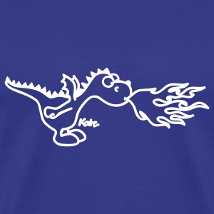 Royal blue Fire Dragon T-Shirts - Men's Premium T-Shirt