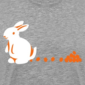 Heather grey bunny with egg chocolate droppings T-Shirts - Men's Premium T-Shirt