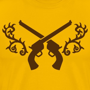 gunslinger guns with thorns trendy embelem T-Shirts - Men's Premium T-Shirt