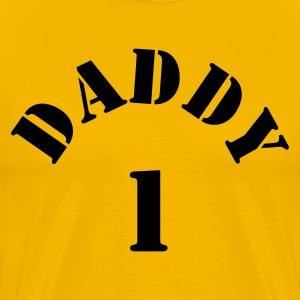 Gold DADDY ONE 1 NEW DAD T-Shirts - Men's Premium T-Shirt