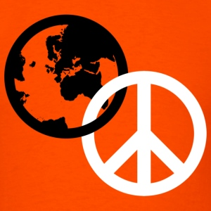 Orange peace sign T-Shirts - Men's T-Shirt