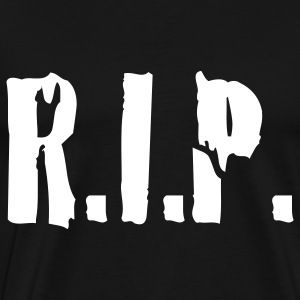 Black r.i.p. rip rest in peace tod death dead T-Shirts - Men's Premium T-Shirt