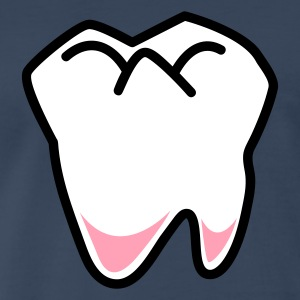 Navy single tooth fairy dentist  T-Shirts - Men's Premium T-Shirt