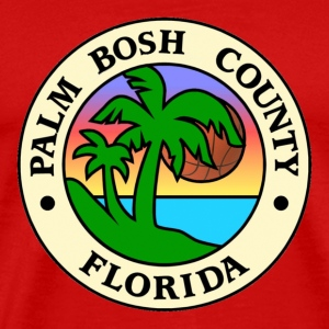 Red PALM BOSH COUNTY T-Shirts - Men's Premium T-Shirt
