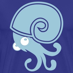 Royal blue nautilus shellfish with tentacles freaky T-Shirts - Men's Premium T-Shirt