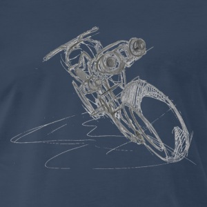 Blue tech motorbike - Men's Premium T-Shirt