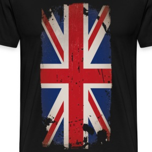 Decayed Brittish flag - Men's Premium T-Shirt