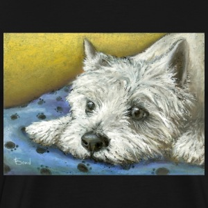 Daydreaming Westie - Men's Premium T-Shirt