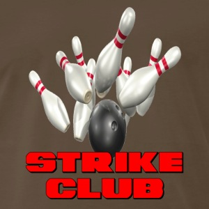 Brown Bowling Team Strike Club T-Shirts - Men's Premium T-Shirt