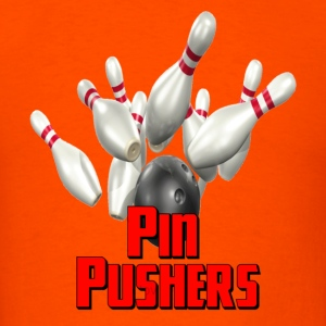 Orange Bowling Team Pin Pushers T-Shirts - Men's T-Shirt