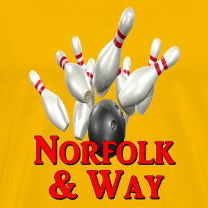 Yellow Bowling Team Norfold & Way T-Shirts - Men's Premium T-Shirt