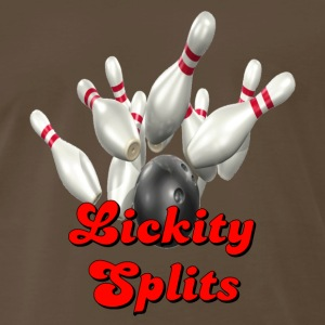 Brown Bowling Team Lickity Splits T-Shirts - Men's Premium T-Shirt
