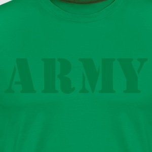 Forest green army in stencil T-Shirts - Men's Premium T-Shirt