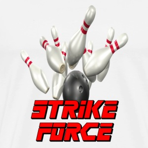 White Bowling Team Strike Force T-Shirts - Men's Premium T-Shirt